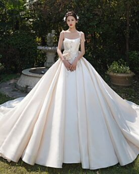With Train Wedding Dress Vintage Sleeveless Princess