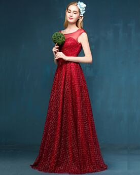 Sleeveless Open Back Empire Glitter Formal Evening Dress Christmas Party Dress 2018 Gala Dresses