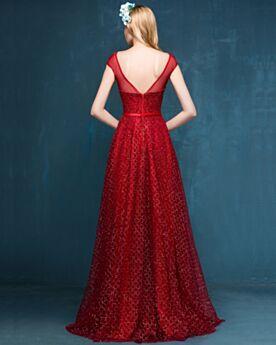 Galakleid Luxus Rückenfreies Kleider Für Festliche Silvester Kleid Empire Tüll Maxi Abendkleid Glitzernden Glitzer