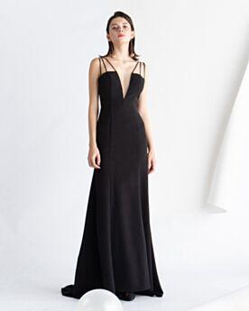 Rückenausschnitt Tiefer Ausschnitt Schwarz Ärmellos Vintage Festliche Kleider Abendkleid Lange Elegante