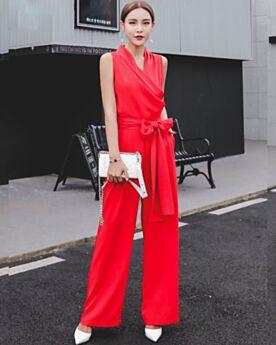 A Portafoglio Tutone Elegante Con Fiocco Cotone Bianco Casual Pantaloni Vita Alta Ufficio