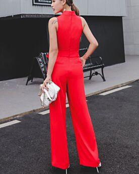 Casual Kleider Weiß Maxi Jumpsuit Damen Businesskleid Schlichte