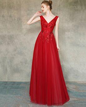 Belle Robe De Bal Robe De Soirée Rouge Princesse Dos Nu