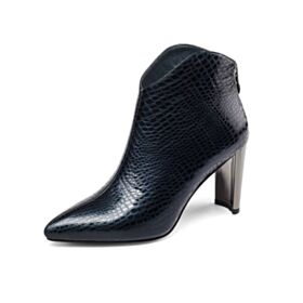 Modern 8 cm High Heels Chelsea Booties Comfort Patent Leather