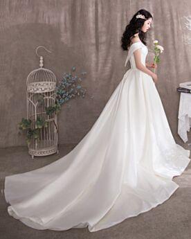 2020 Lacci Vintage Bianco Vestiti Da Sposa Semplici