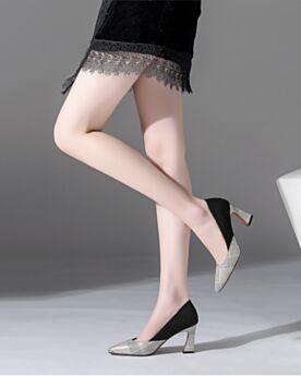 Pata De Gallo Informales Clasico Tacones Altos 8 cm Para Trabajo De Punta Fina Zapatos Tacon Stilettos De Suela Roja Grises Gamuza