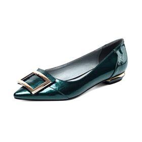 Modernos Zapatos Mujer Planas De Charol 2020