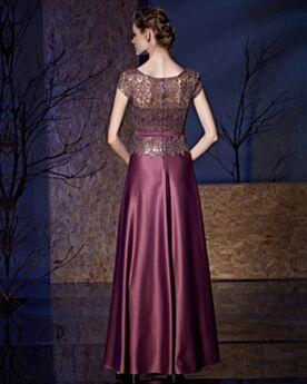 Applikationen Elegante Brautjungfernkleid Spitzen Festliche Kleider Lange Abendkleider