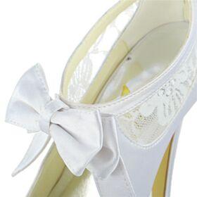 Satin Plataforma Zapatos Tacon Peep Toe De Encaje Stilettos Elegantes Tacon Alto 13 cm