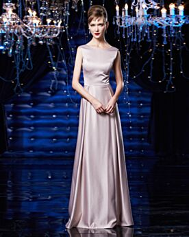 Formal Evening Dresses Organza Spring Embroidered Pearl Pink Mother Of Bridal Dress Beautiful Scoop Neck Modest Satin Long