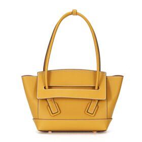 カバン イエロー 本革 カジュアル ファッション ショルダーバッグ サッチェル バッグ 3920150166