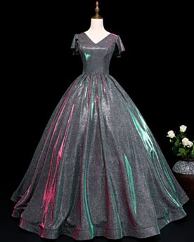 Ball Gown Gray Quinceanera Dresses Long Sequin