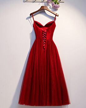 Vestidos Semi Formales Con Cuentas Rojos Vestidos De Fiesta Debajo De La Rodilla Vestidos Cocktail