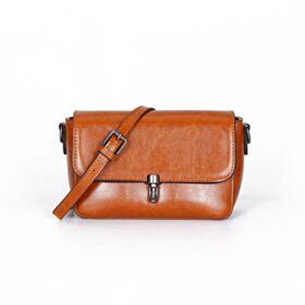Handtaschen Casual Überschlagtasche Umhängetasche Gurt Leder Klassisch Klein Braun Crossbody