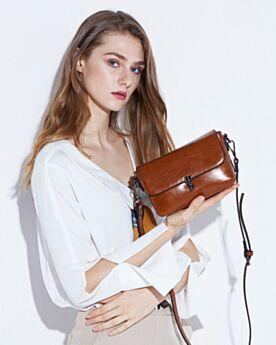 Schwarze 2020 Crossbody Handtasche Damen Vintage Umhängetasche Klein Klassisch Leder