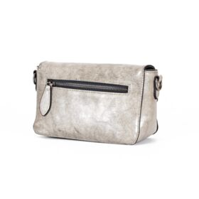 Leather Strap Small Light Gray Leather Purse For Women Crossbody Classic Shoulder Bag
