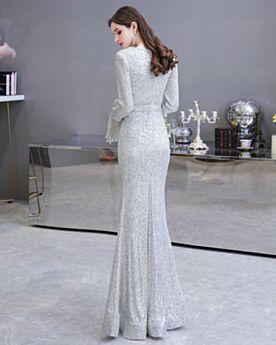 Long Sleeved Christmas Dress Sequin Sparkly Elegant
