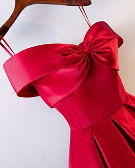 Robe D'honneur Epaule Dénudée Évasée Robe De Fête Epaule Nu Bretelles Fines Dos Nu Robe Soirée Robe Pour Mariage Simple Longue