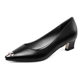 Leder Comfort Pumps Business Schuhe Stilettos