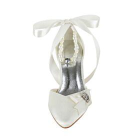 Chaussure Mariée Talon Aiguille Avec Bride Cheville Talon Haut Belle Sandales