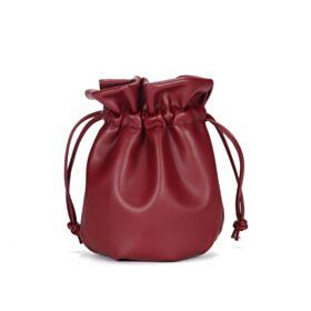 Crossbody Bag Klein Bucket Bag Mode Handtasche Burgunderrot Umhängetasche