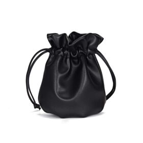 Full Grain Small Fashion Bucket Bag Leather Shoulder Bag Cute Purse For Women Crossbody