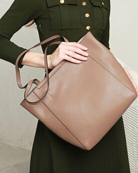 Purse For Women Full Grain Black Leather Tote Shoulder Bag Large Classic Top Handle