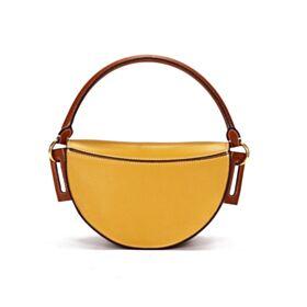 Full Grain Satchel Shoulder Bag Crossbody White Cute Leather Handbag Designer Going Out Color Block