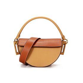 Blockfarben Crossbody Bag Tasche Damen Hart Satchel Tasche Beige Schöne Umhängetasche Casual Überschlagtasche