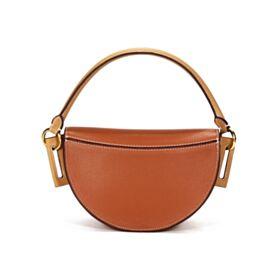 Fashion Flap Small Crossbody Hard Shoulder Bag Satchel Beige Leather Bag