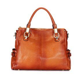 Vintage Shoulder Bag Briefcase Leather Purse Full Grain