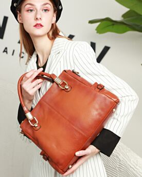 Vintage Shoulder Bag Briefcase Leather Purse Full Grain