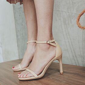 Con Lacci Tacco A Spillo Nero Sandali Donna Classici Tacco Alto