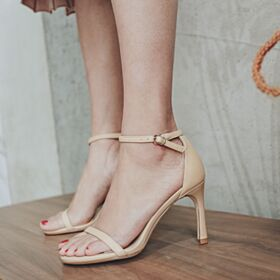 Sandaletten Knöchelriemen 4 inch Stilettos High Heels