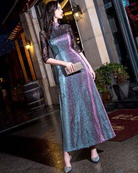 Lang spitze glitzer abendkleid Abendkleider Lang