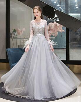 Strass Princesse Perlage Élégant Empire Robes De Bal Robe Soirée