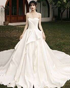 Bridals Wedding Dress A Line Ivory Vintage Sleeveless