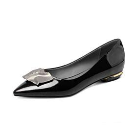Planas Clasico De Charol Zapatos Mujer