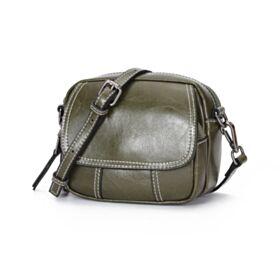 Purse For Women Simple Full Grain Crossbody Fashion Flap Over Shoulder Bag