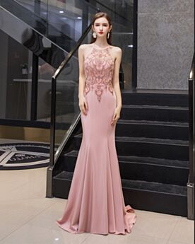 Sweet 16 Dress Long Cute Backless Satin Halter Evening Dresses