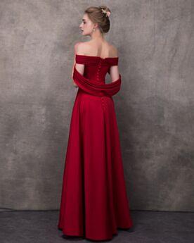 Sexy Plissee Abendkleider Empire Rot
