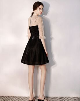 Tulle Ruffle Organza Transparent Short Cocktail Party Dress