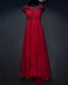 Beautiful Bridesmaid Dress Evening Dresses Open Back Scoop Neck Lace Long Beaded Sleeveless