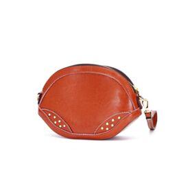 Leather Fashion Cute Shoulder Bag Crossbody Brown Purse