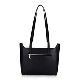 Mode Satchel Bag Umhängetasche Hart Schwarz Weiß Blockfarben Leder Handtasche Schöne