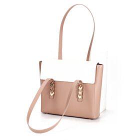 Blockfarben Satchel Bag Modern Nude Casual Schöne Umhängetasche Leder Tasche