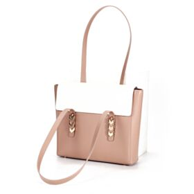 Color Block Cute Handbag Fashion Leather Nude Shoulder Bag Satchel Casual Hard
