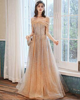 Glitter Robe Soirée Paillette Bustier Belle Longue Princesse Robe Habillée Robe De Bal