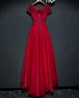 Abendkleid Rückenfreies Fit N Flare Spitzen Trauzeugin Kleid Kleider Hochzeitsgäste Elegante