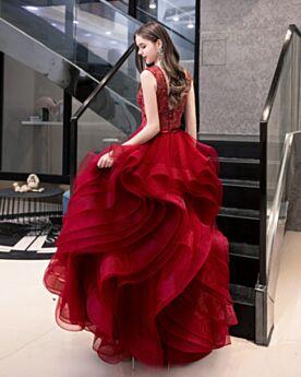 Chic Vestidos De Fiesta Rojo Espalda Descubierta Vintage Largos Vestidos Para Prom